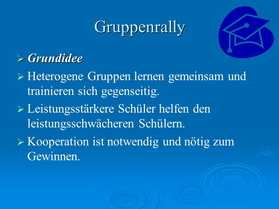 Gruppenrally Grundidee