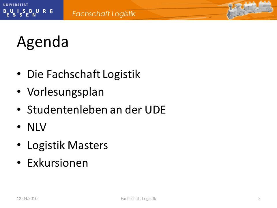 Agenda Die Fachschaft Logistik Vorlesungsplan