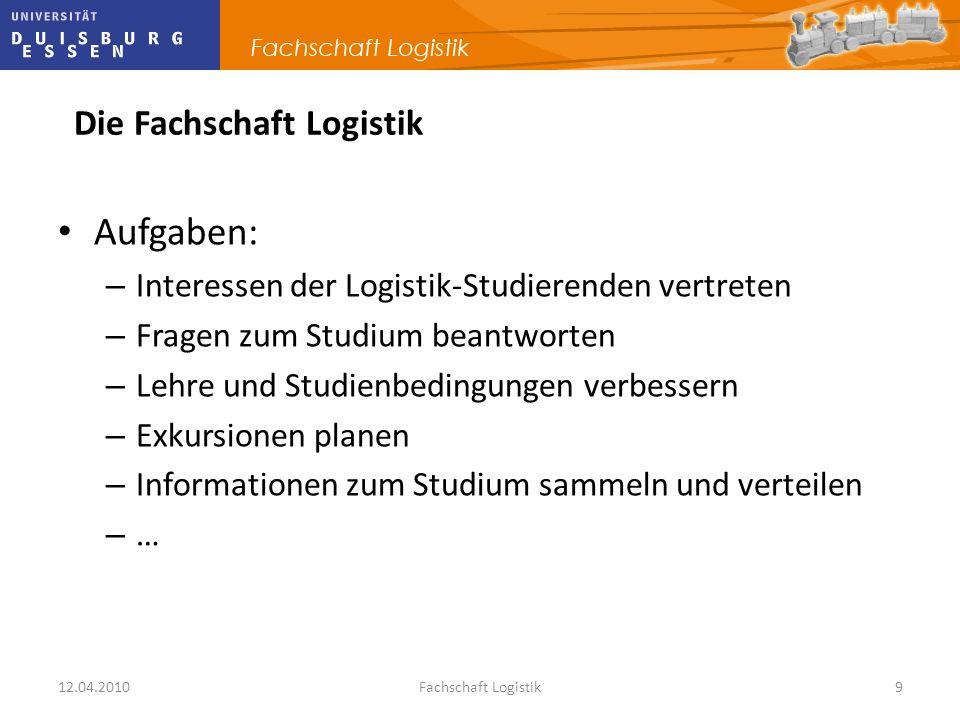Aufgaben: Die Fachschaft Logistik