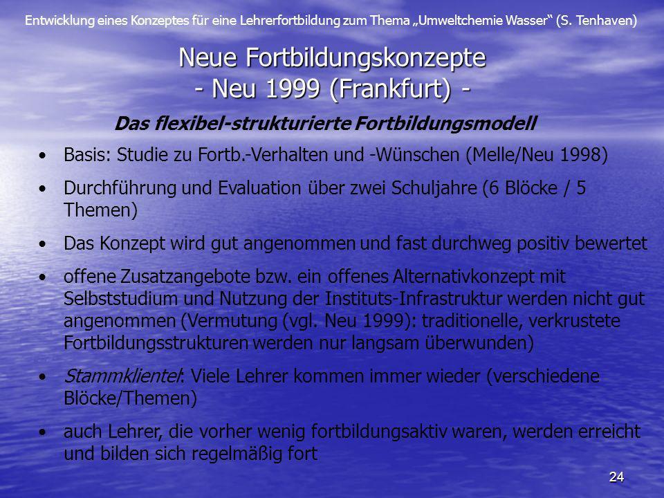 Neue Fortbildungskonzepte - Neu 1999 (Frankfurt) -