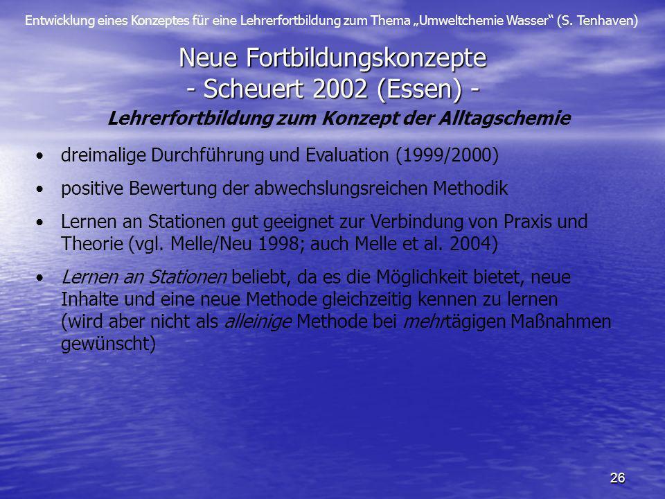 Neue Fortbildungskonzepte - Scheuert 2002 (Essen) -