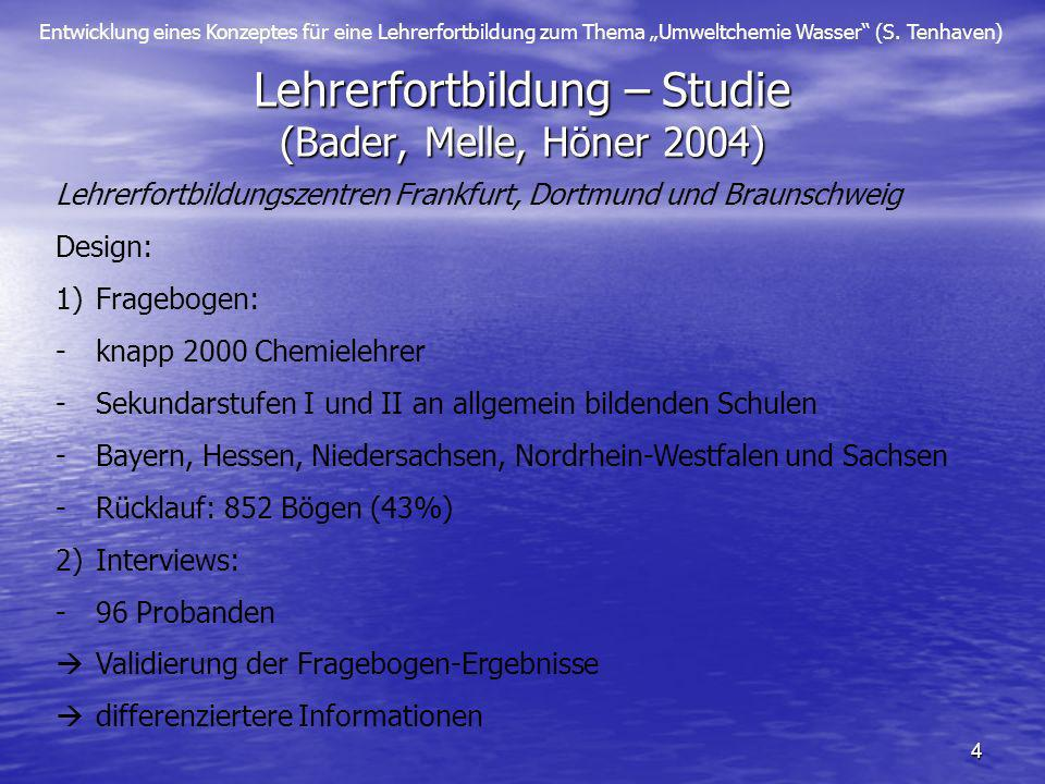 Lehrerfortbildung – Studie (Bader, Melle, Höner 2004)