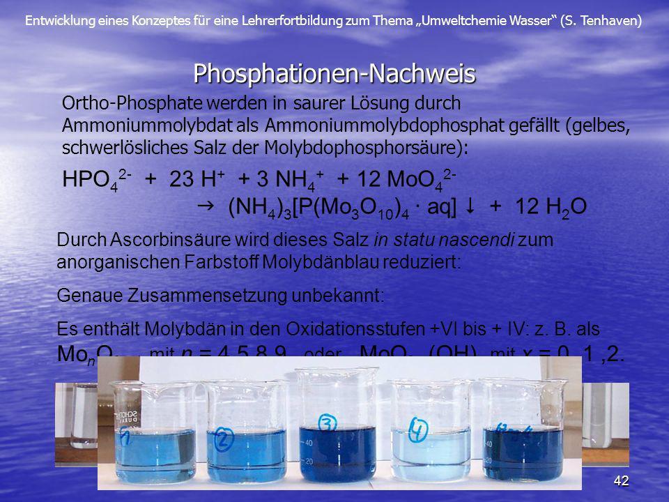 Phosphationen-Nachweis