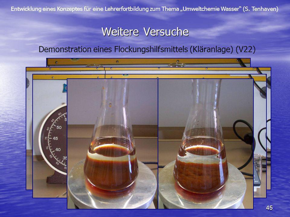 Demonstration eines Flockungshilfsmittels (Kläranlage) (V22)