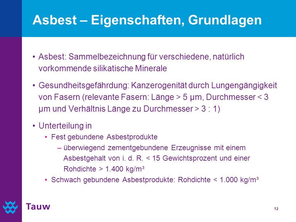 Asbest – Eigenschaften, Grundlagen