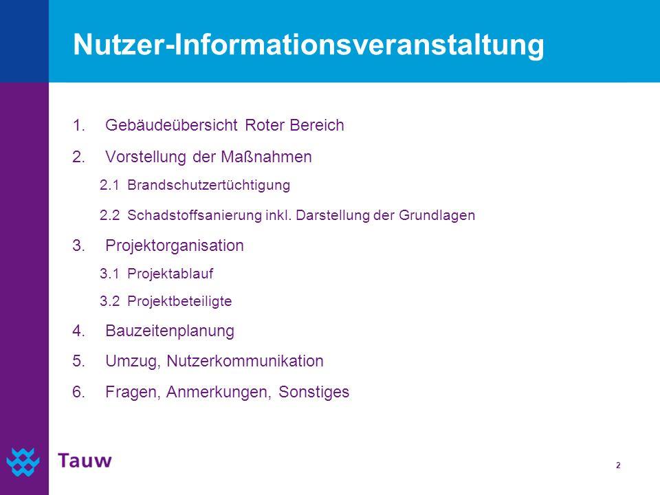Nutzer-Informationsveranstaltung