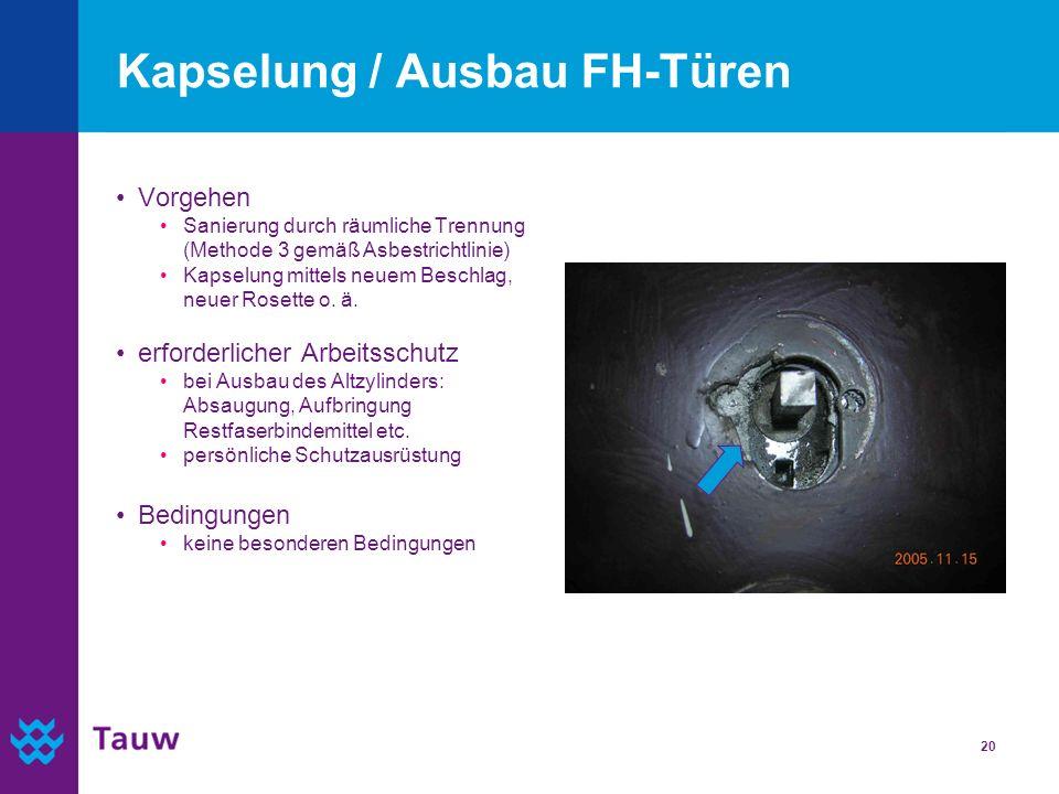 Kapselung / Ausbau FH-Türen