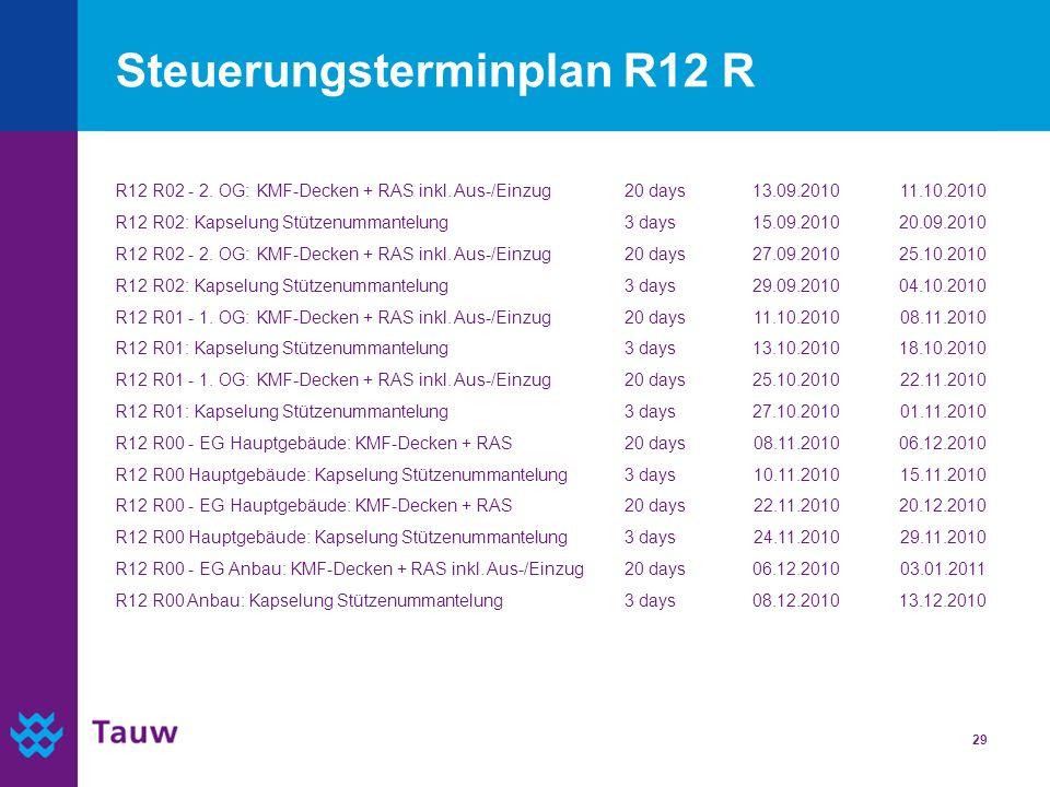 Steuerungsterminplan R12 R