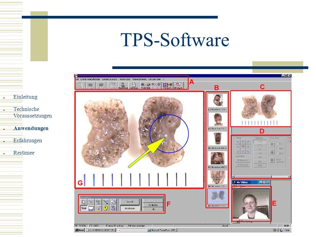 TPS-Software Einleitung Technische Voraussetzungen Anwendungen