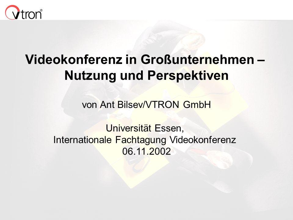 Videokonferenz in Großunternehmen – Nutzung und Perspektiven