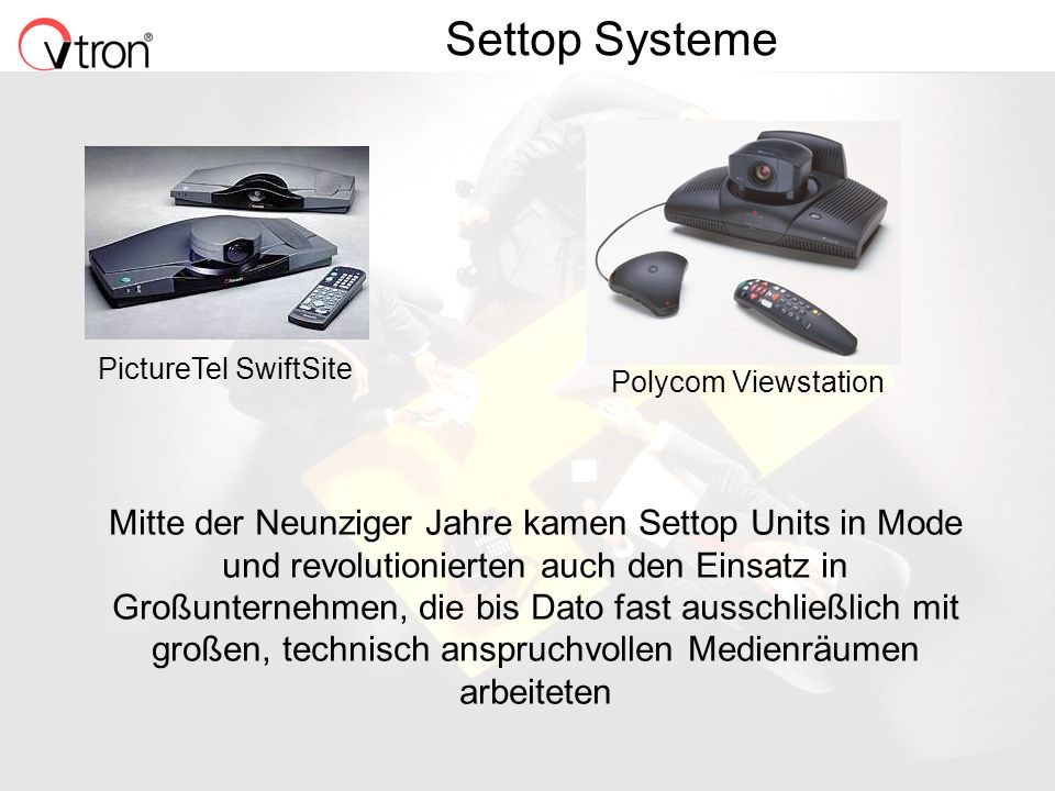 Settop Systeme PictureTel SwiftSite. Polycom Viewstation.