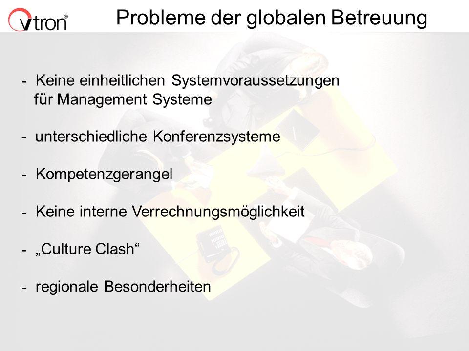 Probleme der globalen Betreuung
