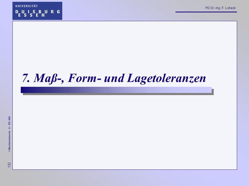 7. Maß-, Form- und Lagetoleranzen