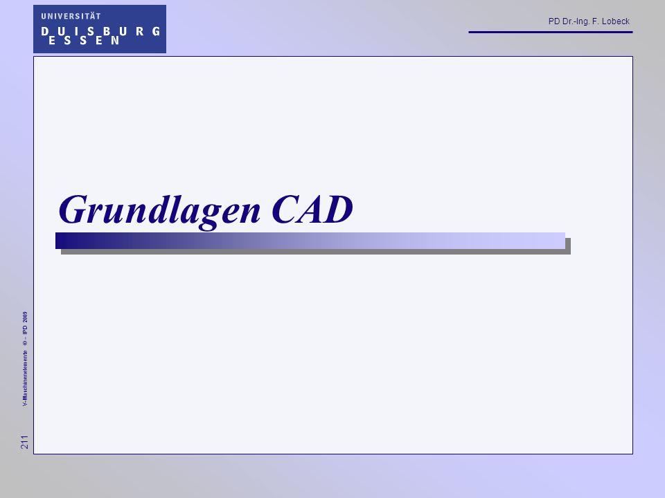 Grundlagen CAD