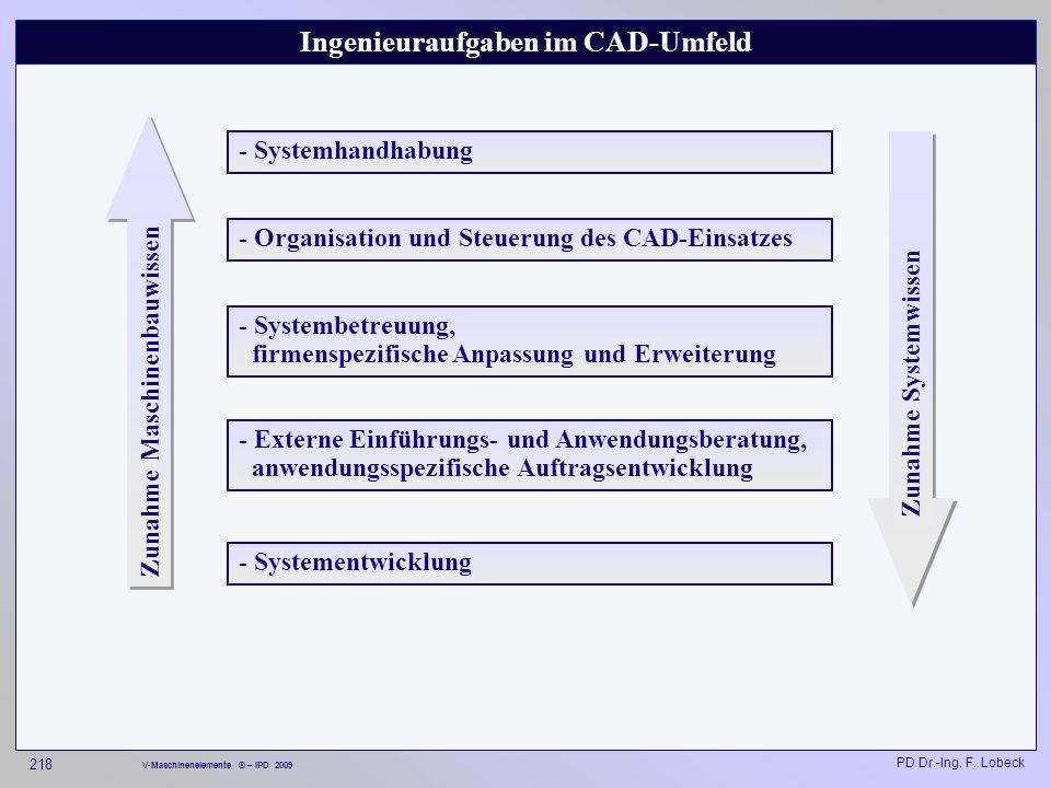 Ingenieuraufgaben im CAD-Umfeld