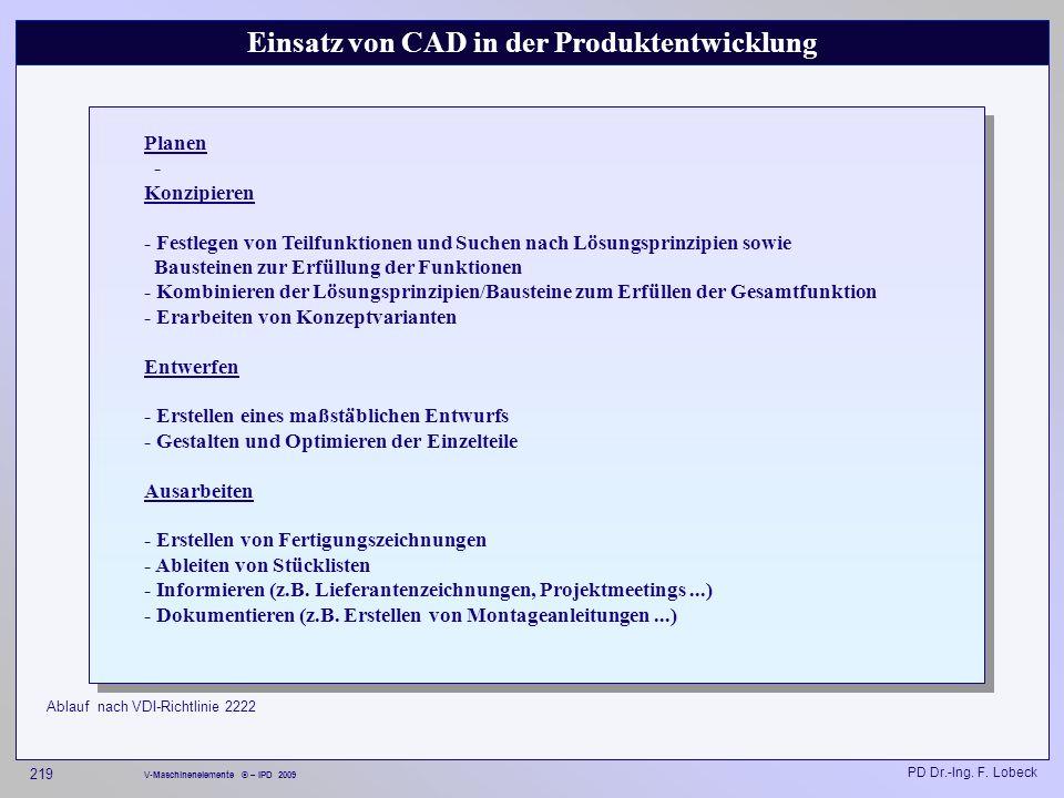 Einsatz von CAD in der Produktentwicklung
