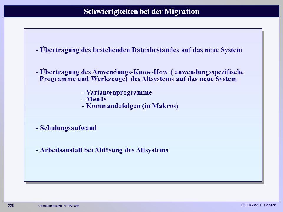 Schwierigkeiten bei der Migration