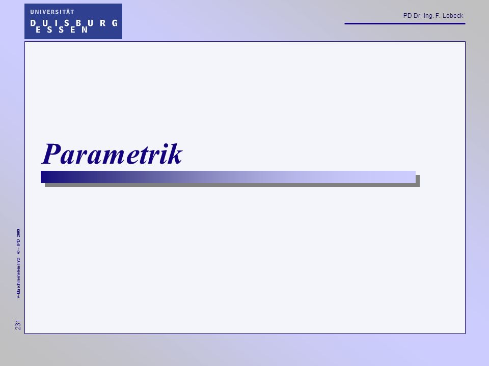 Parametrik