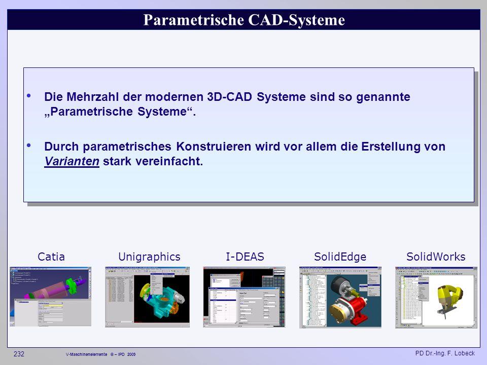 Parametrische CAD-Systeme
