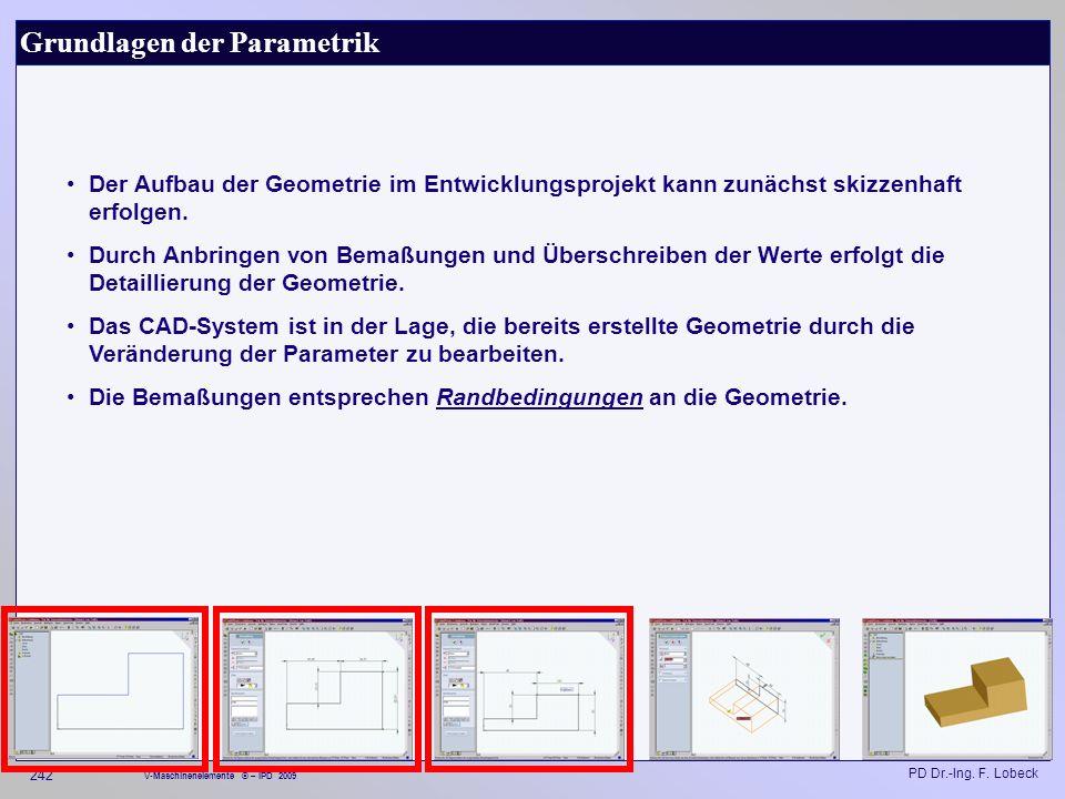 Grundlagen der Parametrik