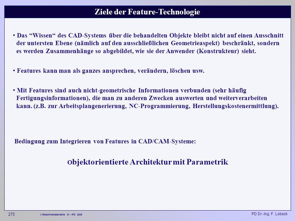 Ziele der Feature-Technologie