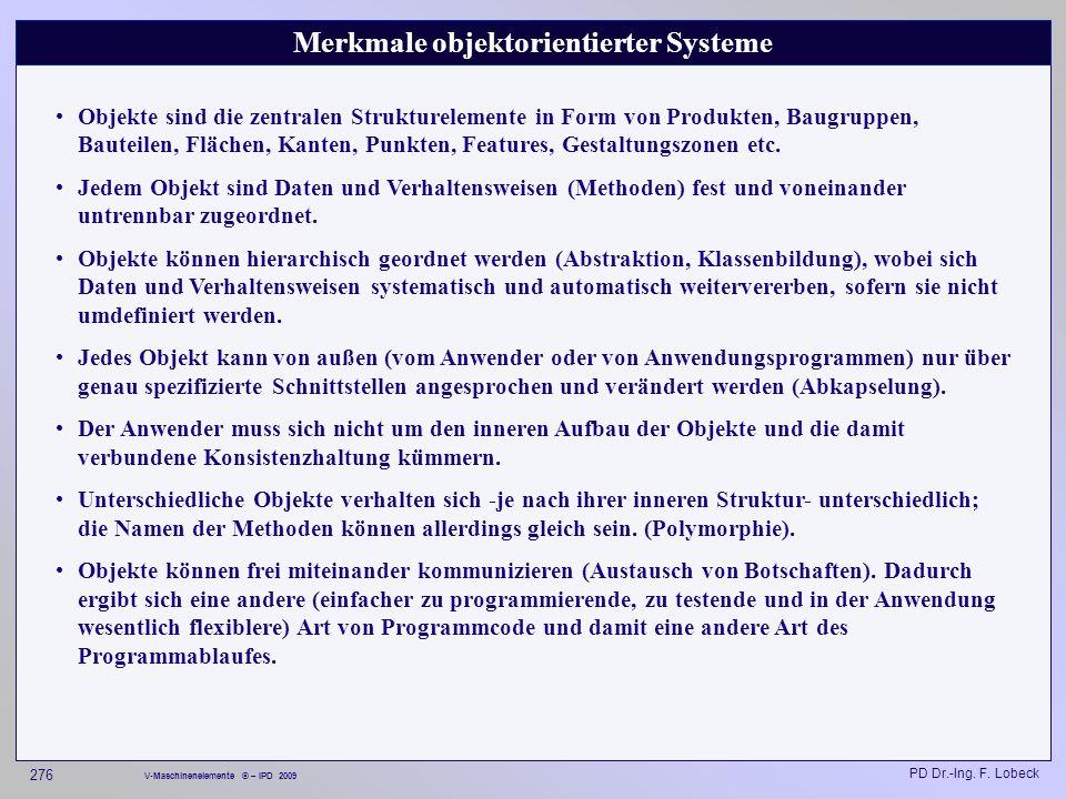 Merkmale objektorientierter Systeme