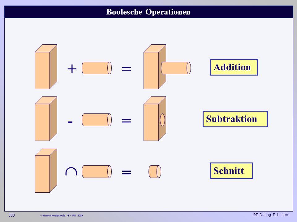 Boolesche Operationen