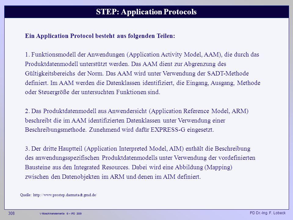 STEP: Application Protocols