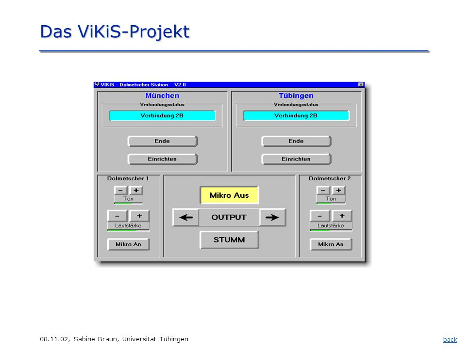 Das ViKiS-Projekt Das ViKiS-Projekt