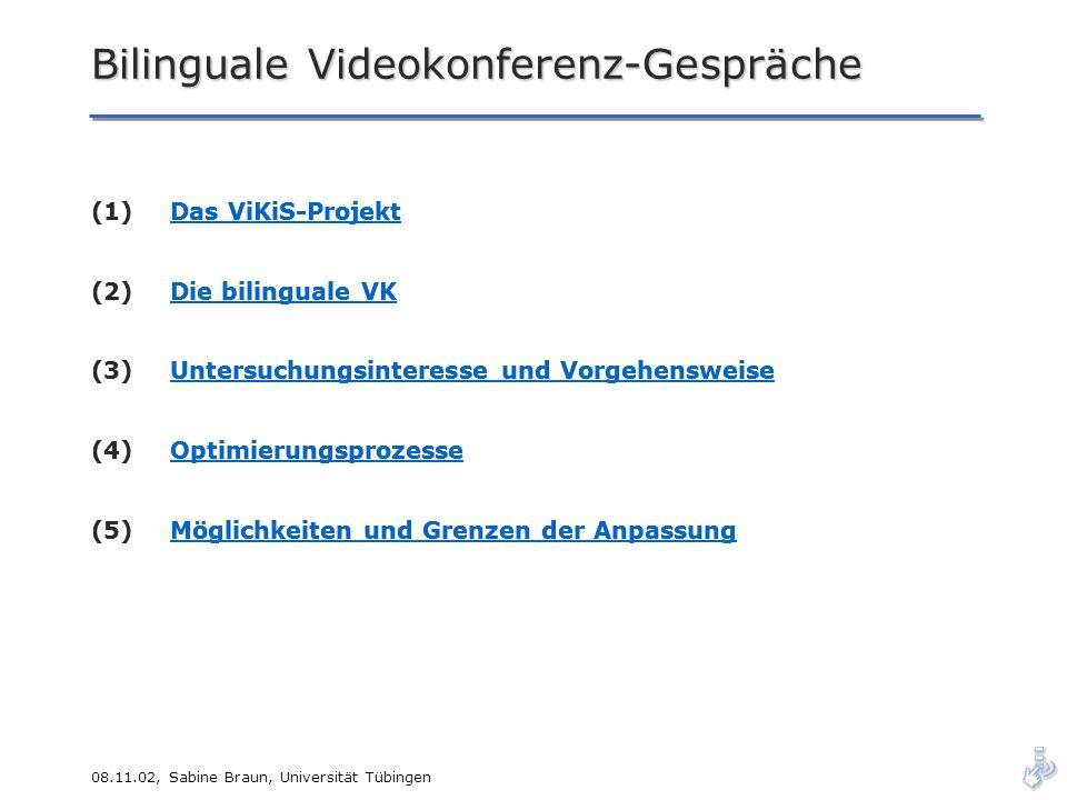 Bilinguale Videokonferenz-Gespräche