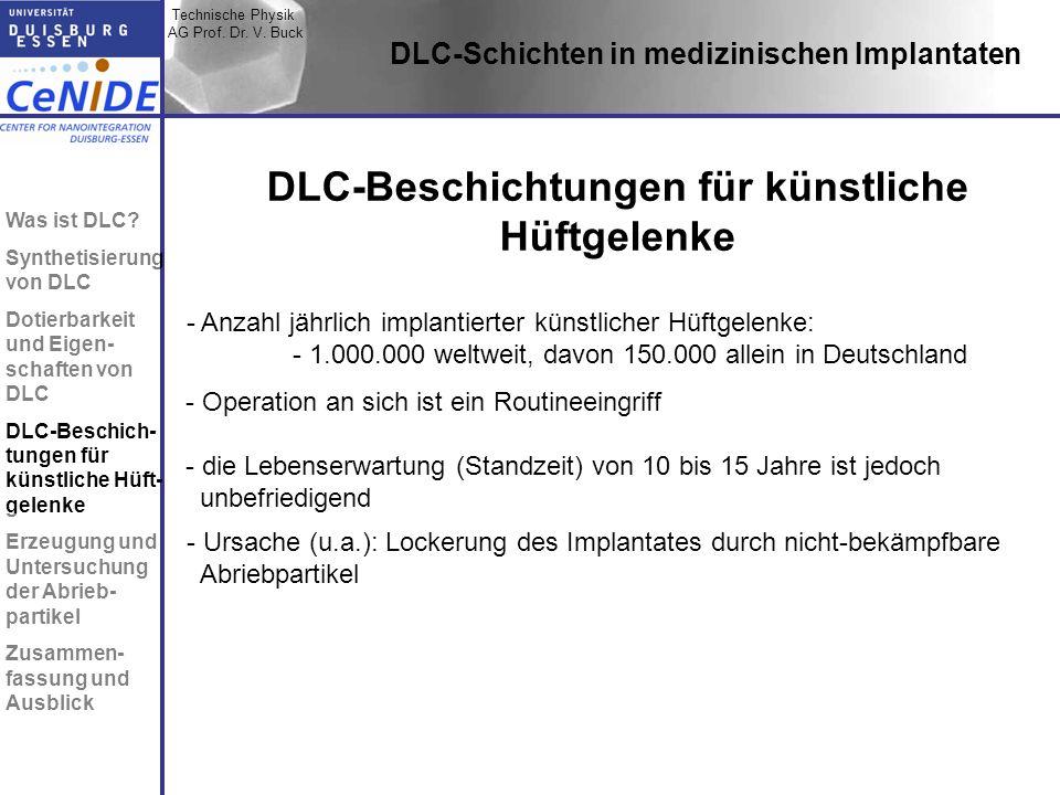 DLC-Beschichtungen für künstliche Hüftgelenke