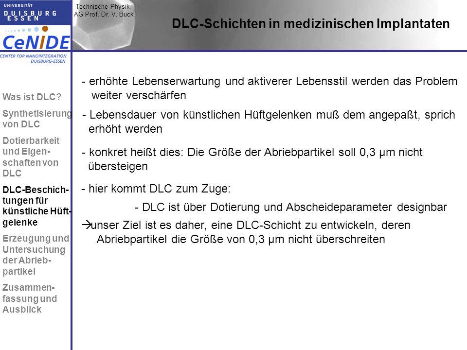 DLC-Schichten in medizinischen Implantaten