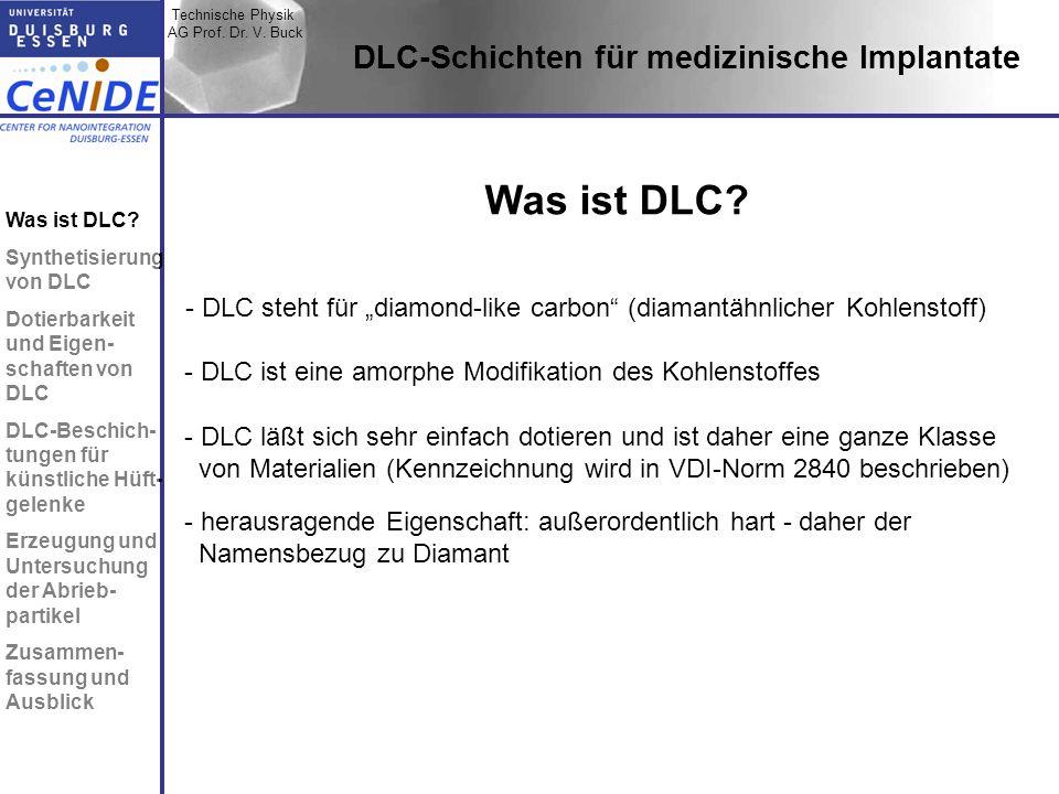 Was ist DLC DLC-Schichten für medizinische Implantate