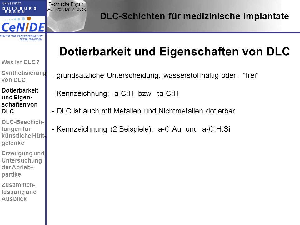 Dotierbarkeit und Eigenschaften von DLC