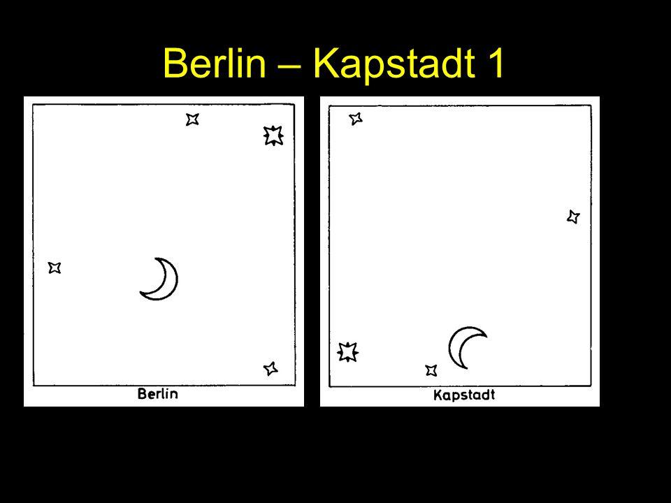 Berlin – Kapstadt 1 Die Mondparallaxe