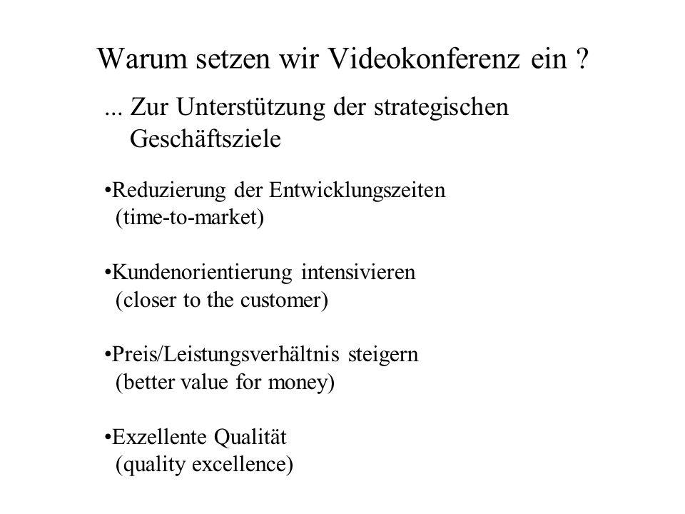 Warum setzen wir Videokonferenz ein