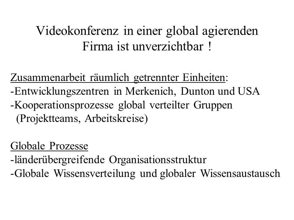 Videokonferenz in einer global agierenden Firma ist unverzichtbar !