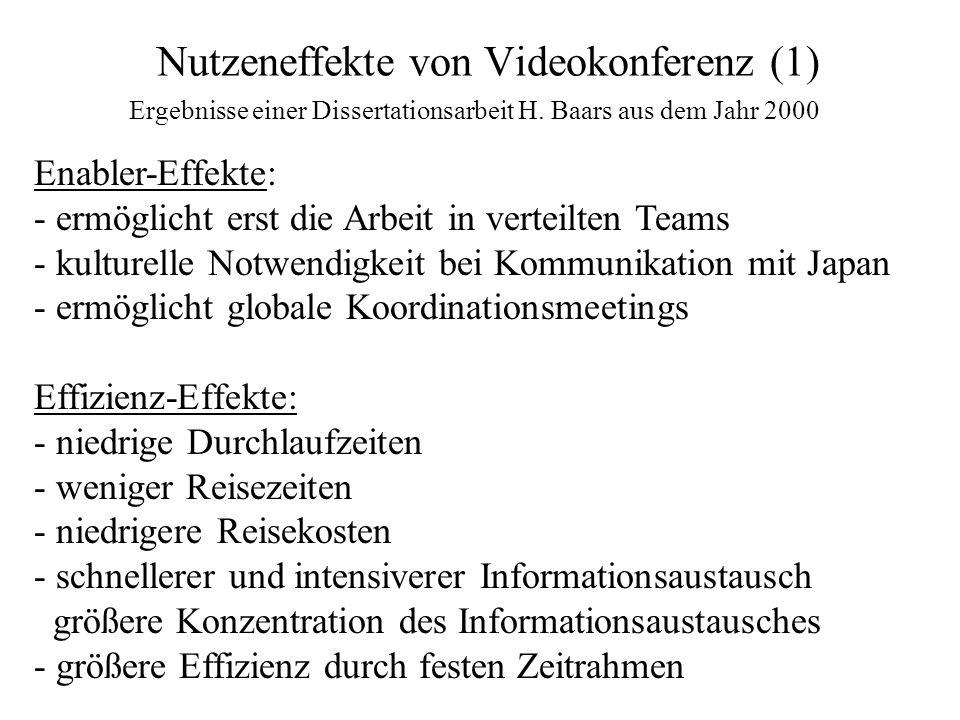 Nutzeneffekte von Videokonferenz (1)