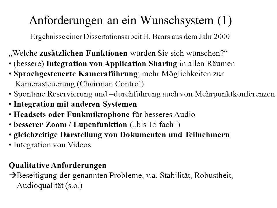 Anforderungen an ein Wunschsystem (1)