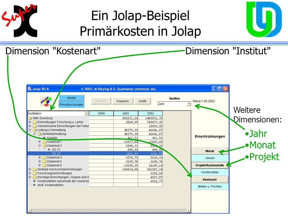 Ein Jolap-Beispiel Primärkosten in Jolap