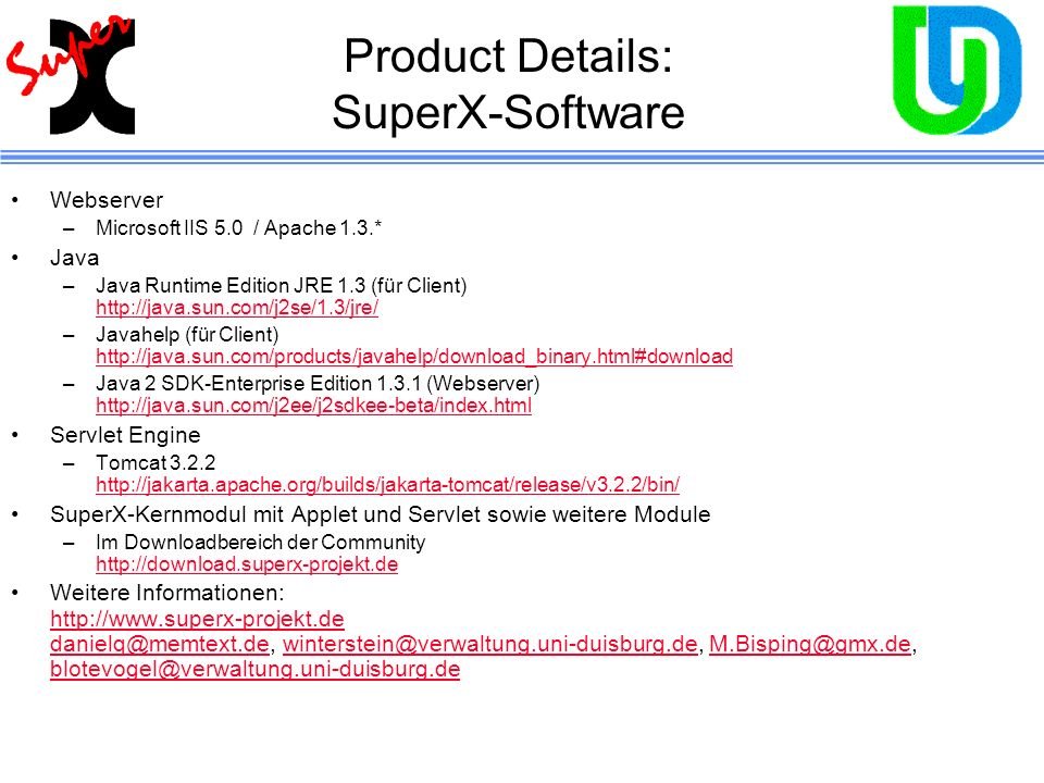 Product Details: SuperX-Software
