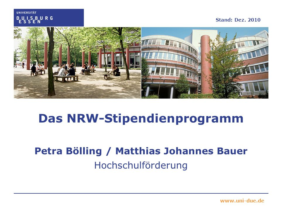 Das NRW-Stipendienprogramm