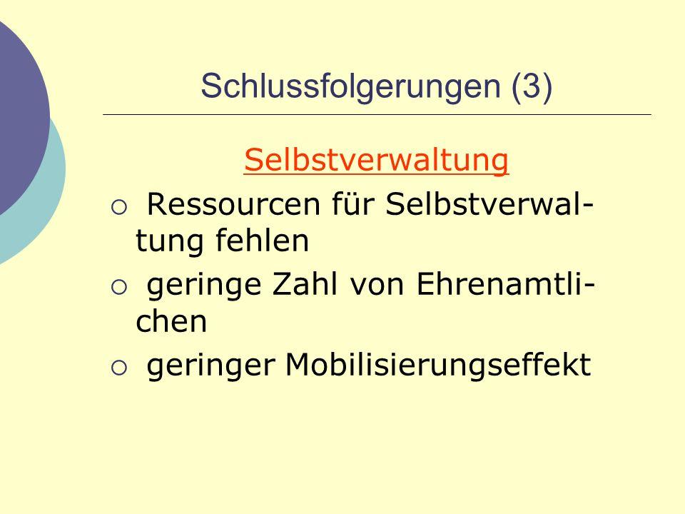 Schlussfolgerungen (3)
