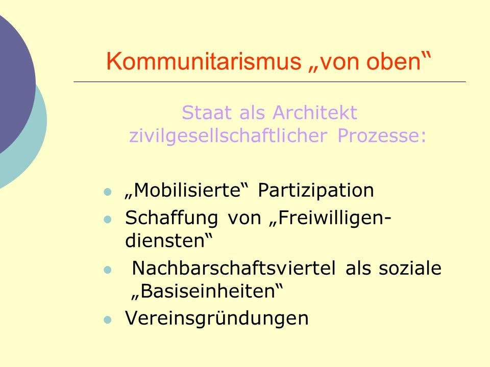 """Kommunitarismus """"von oben"""