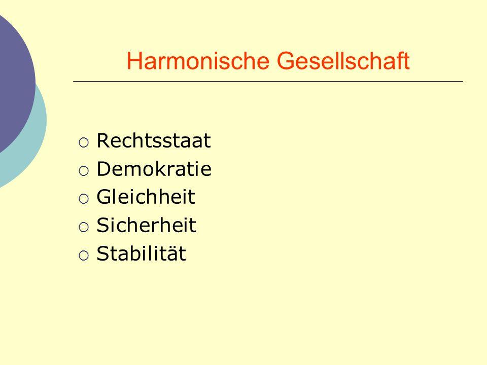 Harmonische Gesellschaft