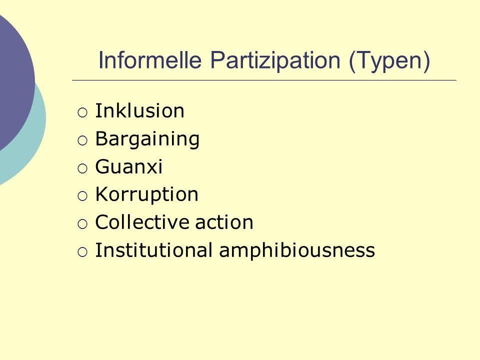 Informelle Partizipation (Typen)