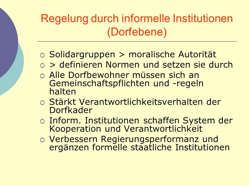 Regelung durch informelle Institutionen (Dorfebene)