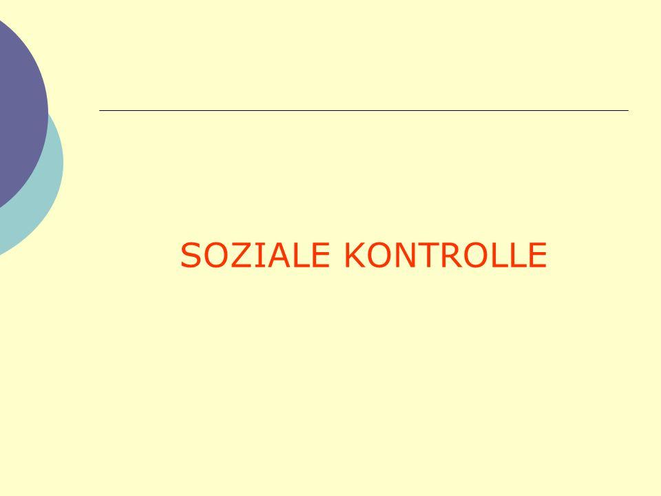 SOZIALE KONTROLLE