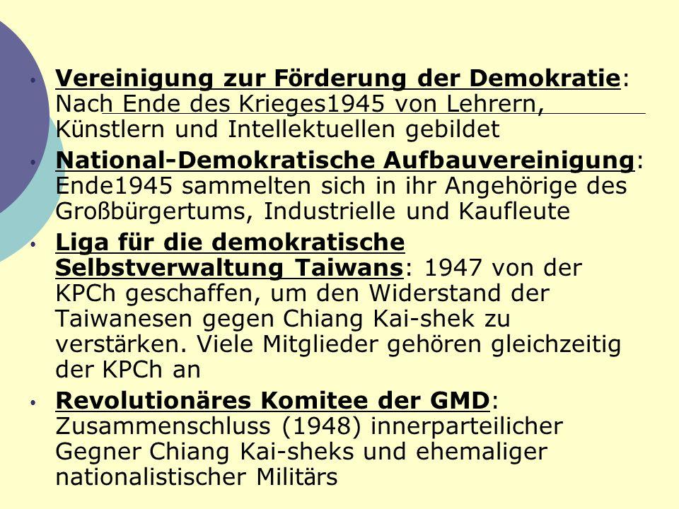 Vereinigung zur Förderung der Demokratie: Nach Ende des Krieges1945 von Lehrern, Künstlern und Intellektuellen gebildet
