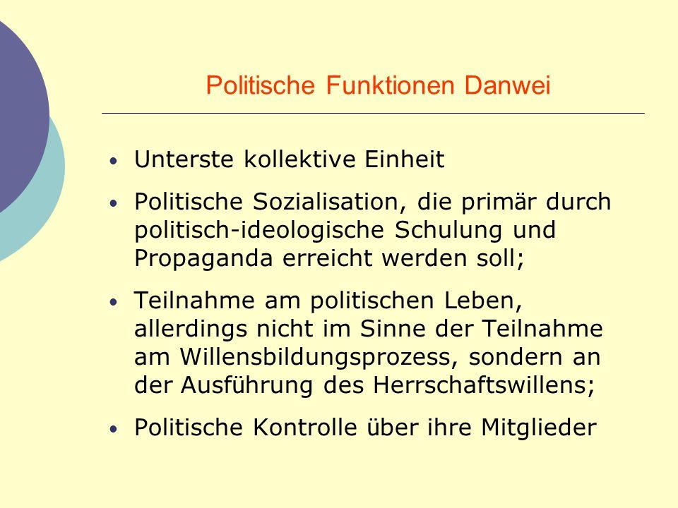 Politische Funktionen Danwei